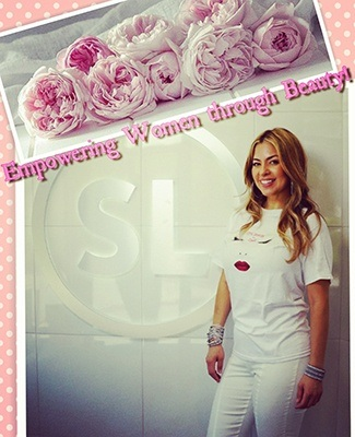 Empowering women through beauty flyer